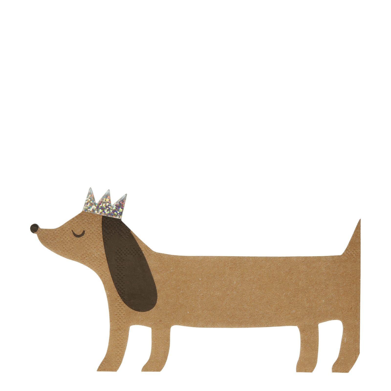 MERIMERI Sausage dog napkins