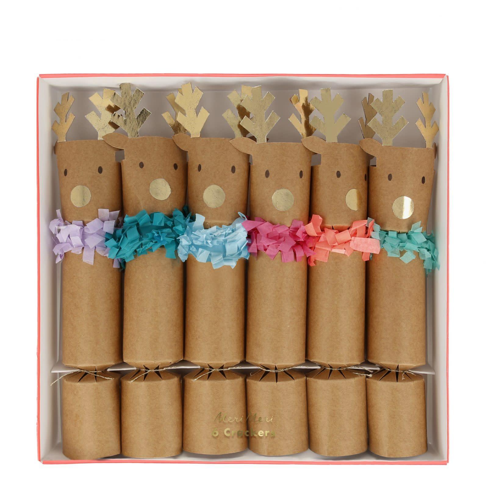 MERIMERI Reindeer fringe crackers S