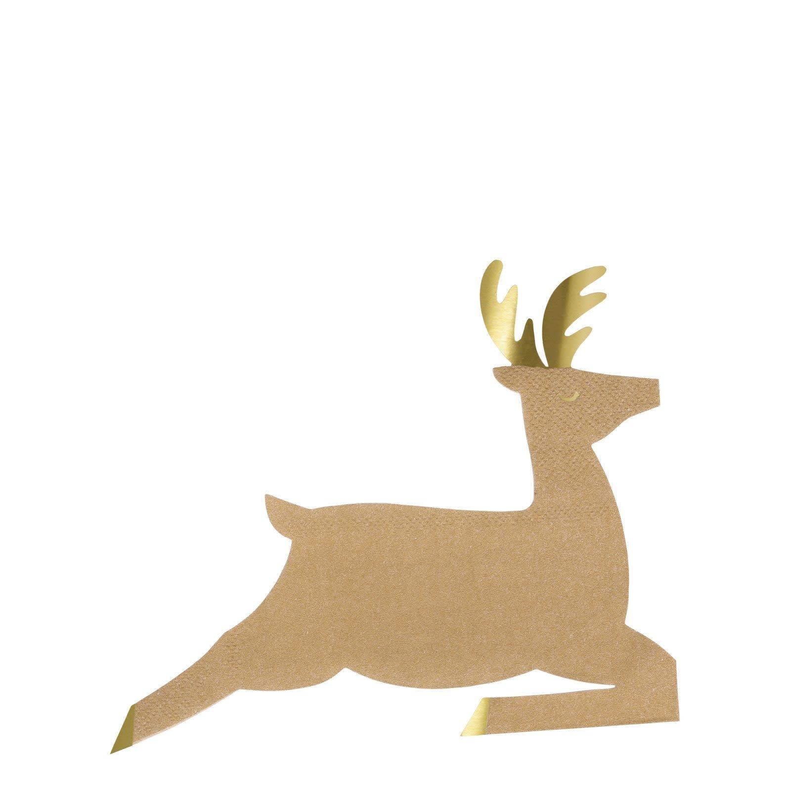 MERIMERI Leaping reindeer napkins