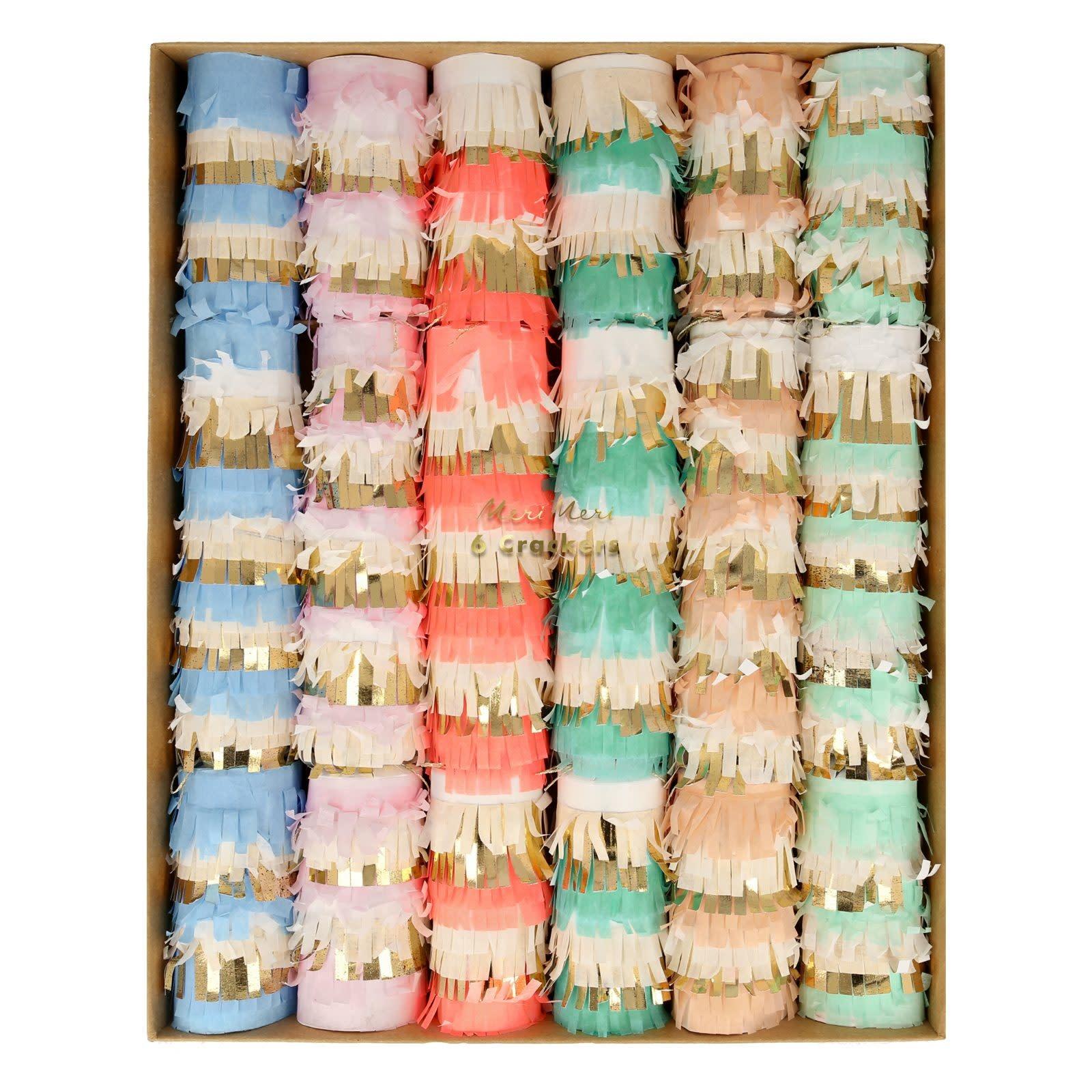 MERIMERI Pastel fringe crackers M