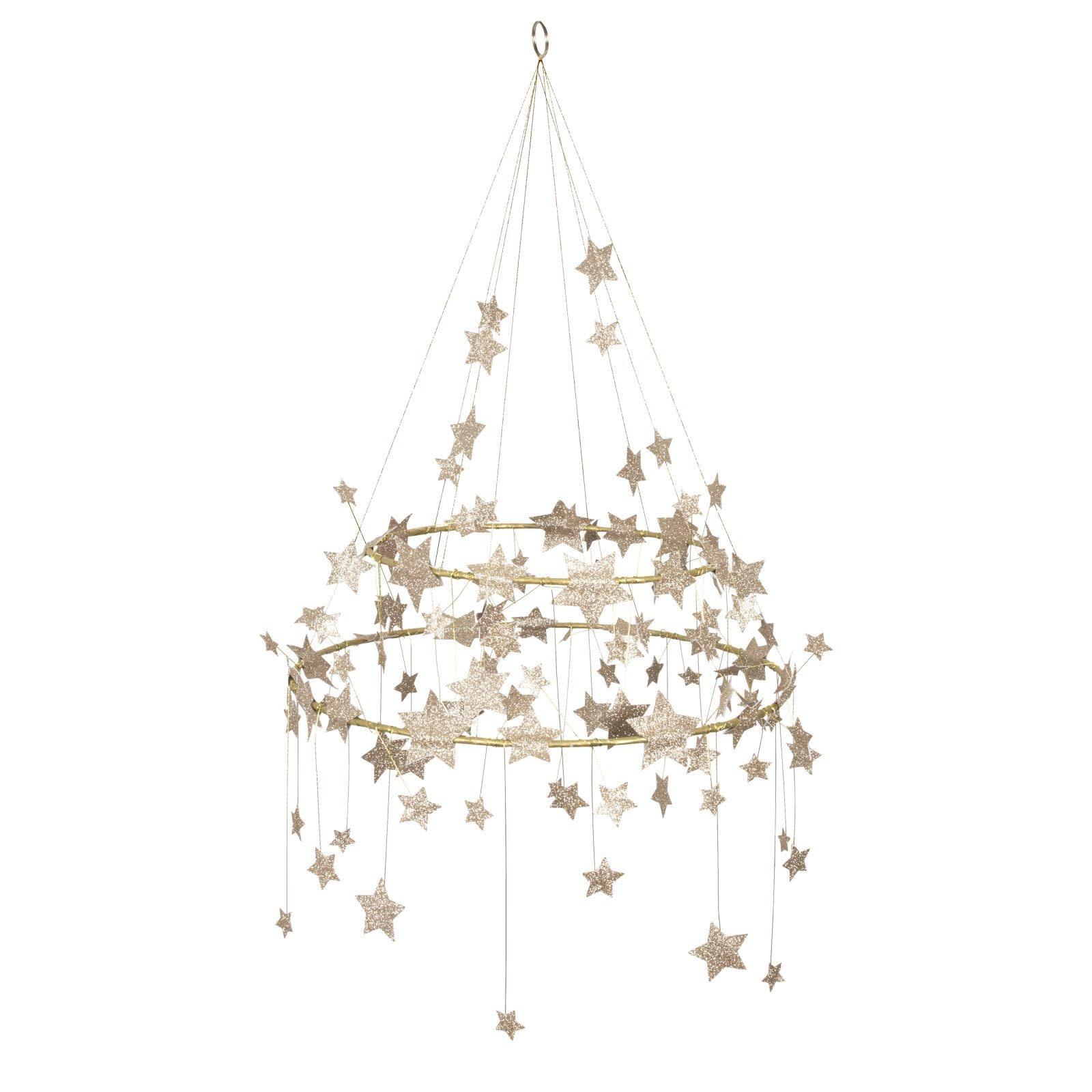 MERIMERI Gold sparkle star chandelier