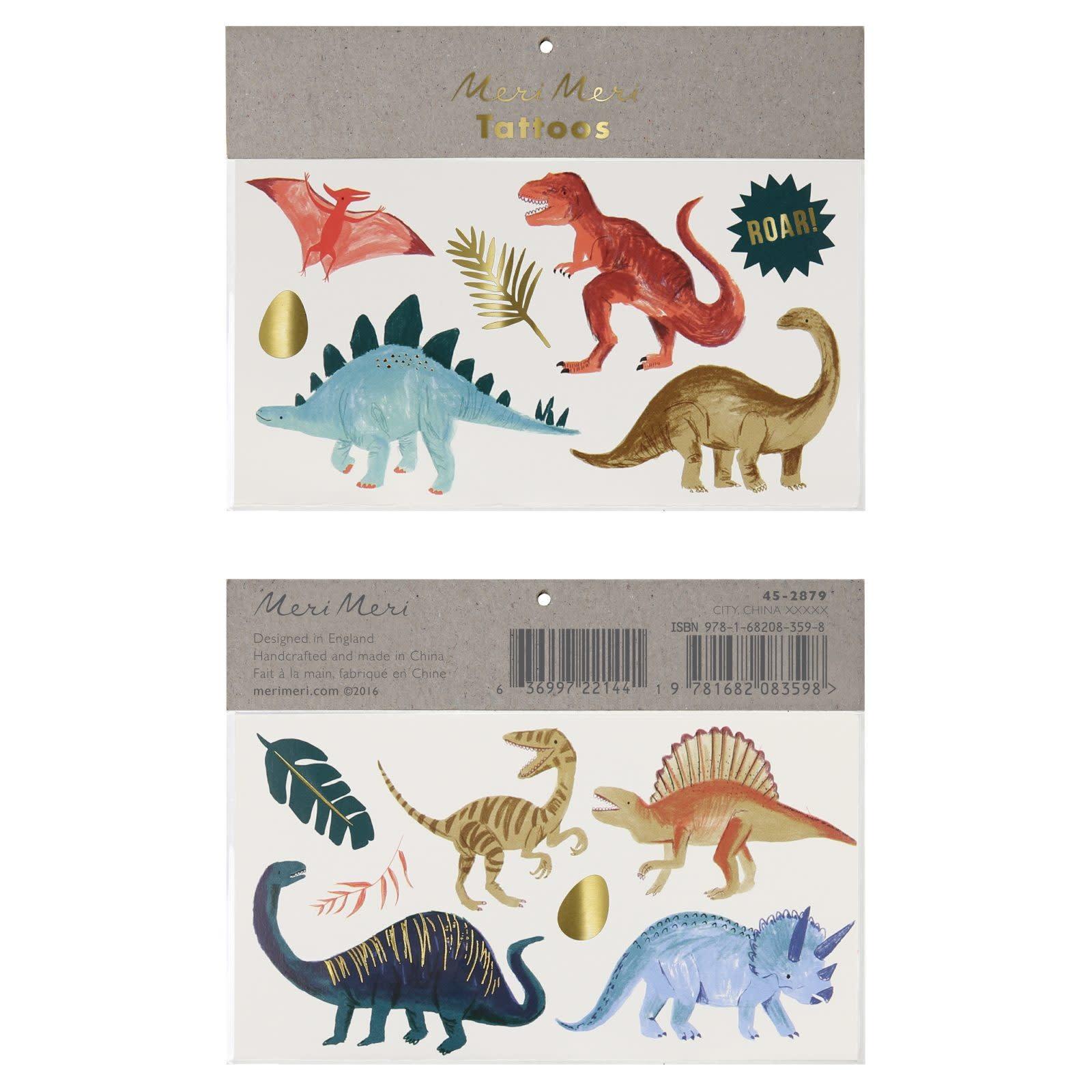 MERIMERI Dinosaur Kingdom tattoos