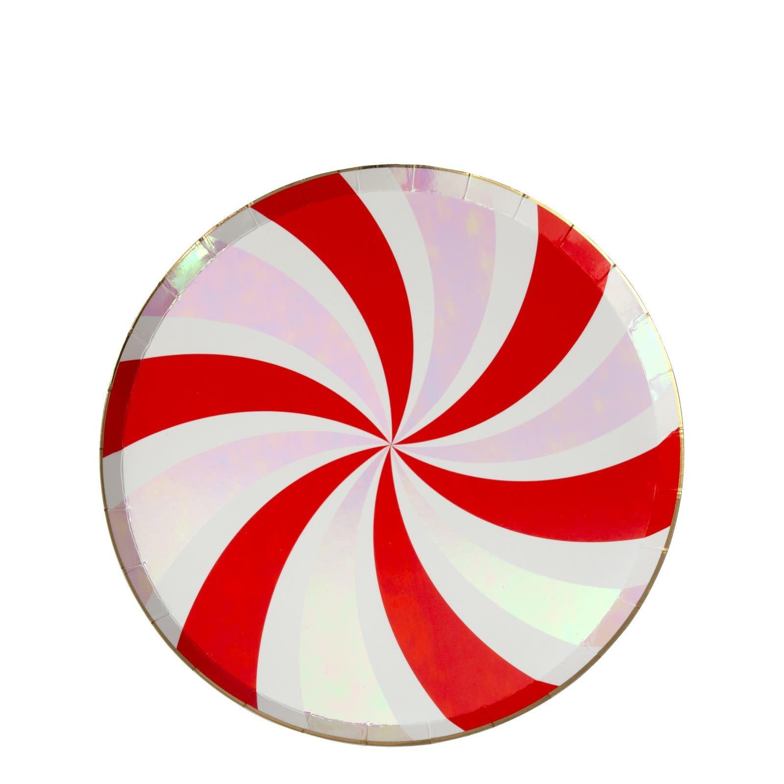 MERIMERI Peppermint swirl plates S