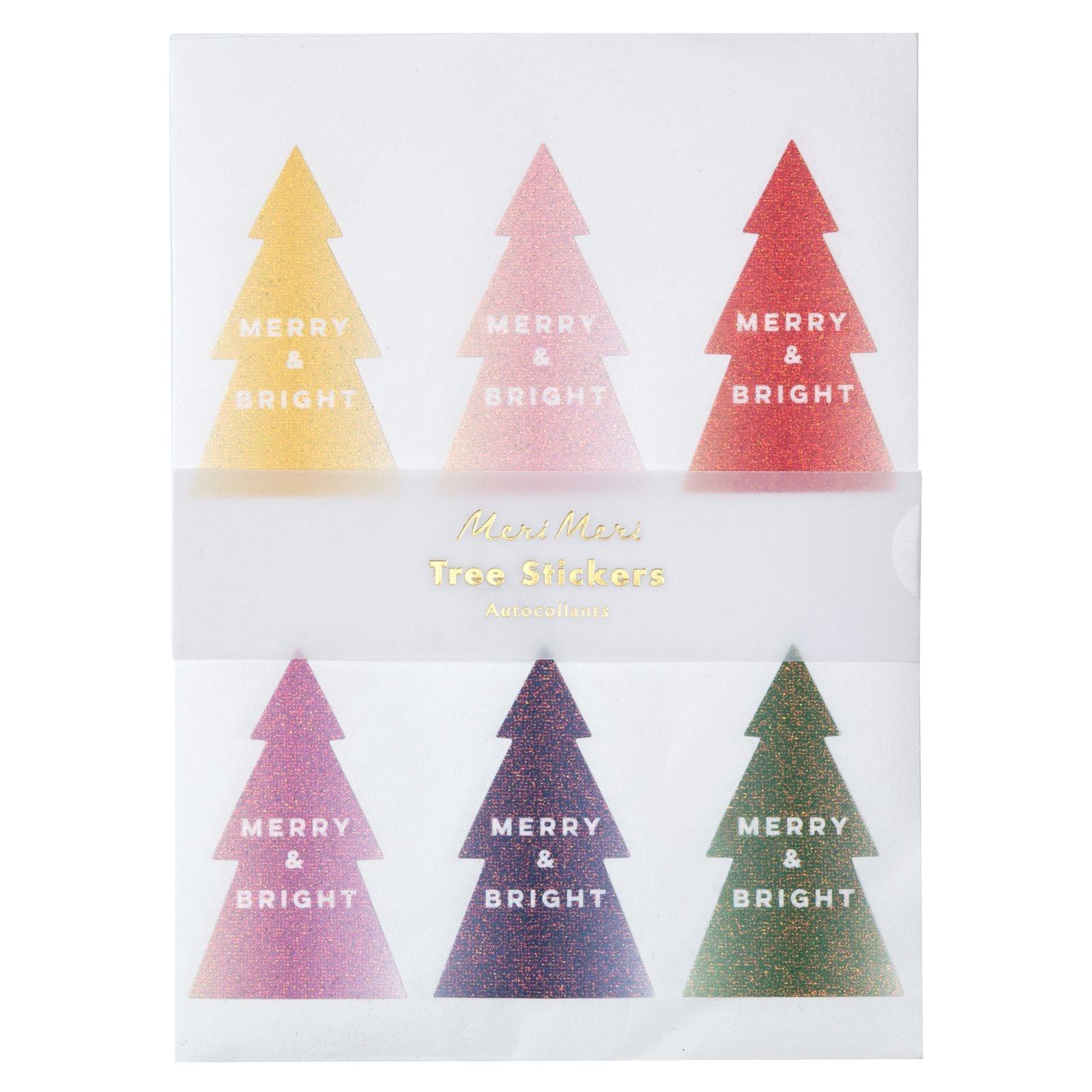 MERIMERI Glitter ombre tree stickers