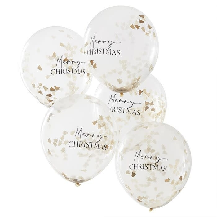 GINGERRAY MERRY CHRISTMAS CONFETTI BALLOONS
