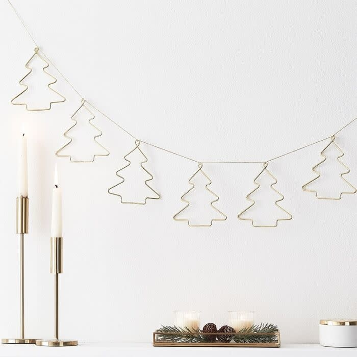 GINGERRAY CHRISTMAS GOLD CONTEMPORARY BUNTING DECORATION