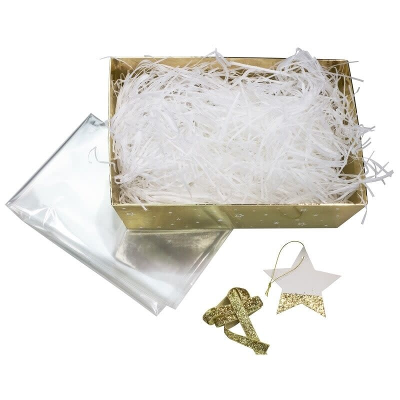 GINGERRAY GOLD CHRISTMAS HAMPER BASKET KIT