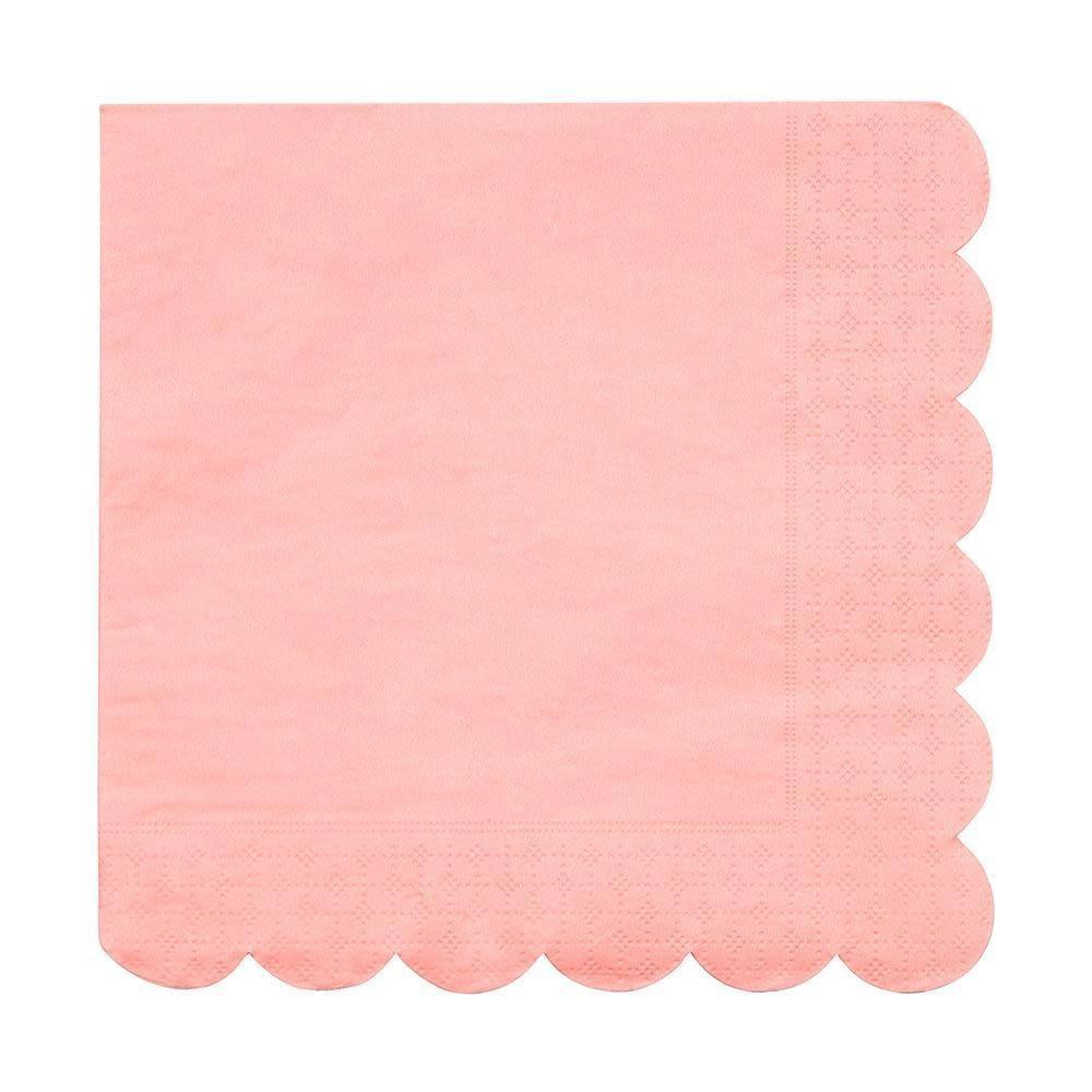 MERIMERI Neon coral napkins L