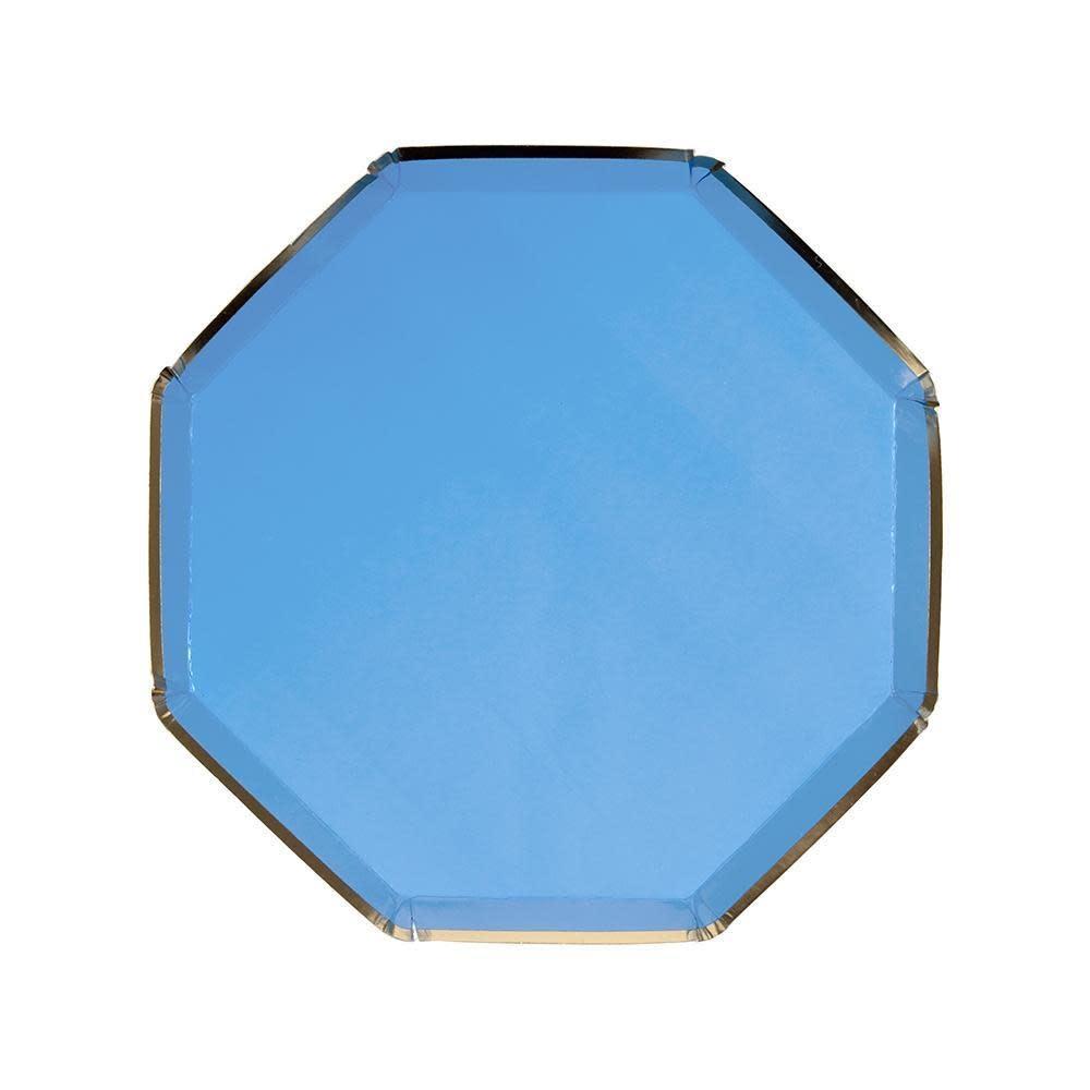 MERIMERI Bright blue side plates