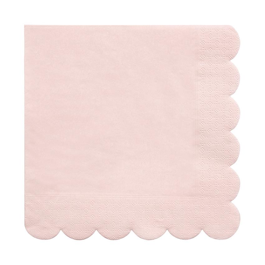 MERIMERI Pale pink napkins L