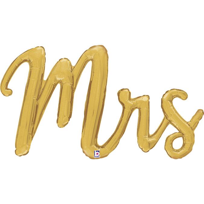 SMP Mrs script Foil Balloon 99 cm