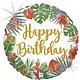 SMP Tropical birthday Foil Balloon 45 cm