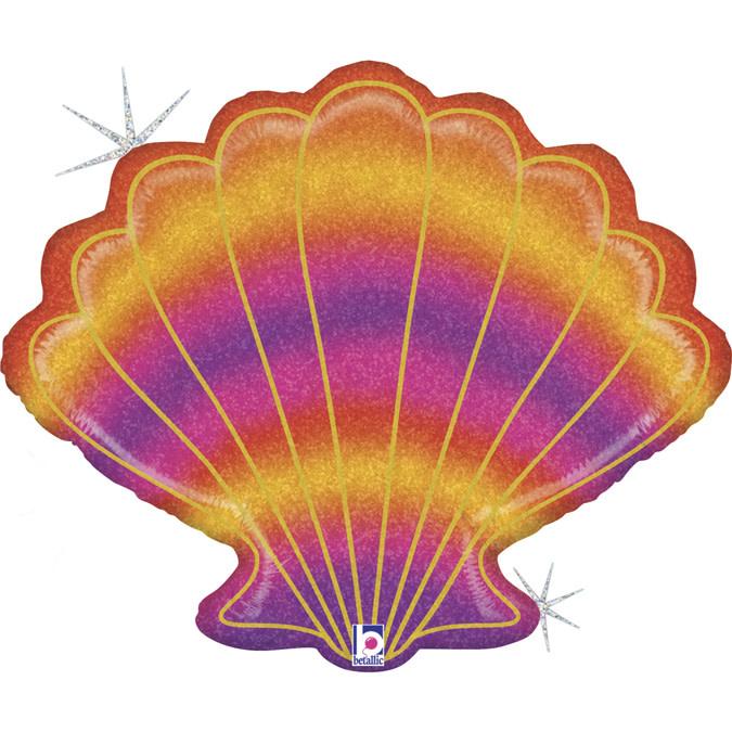 SMP Glitter seashell Foil Balloon 76 cm