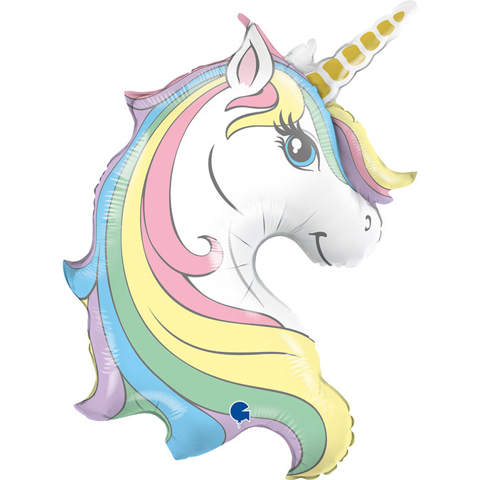 SMP Macaron Unicorn head Foil Balloon 99 cm