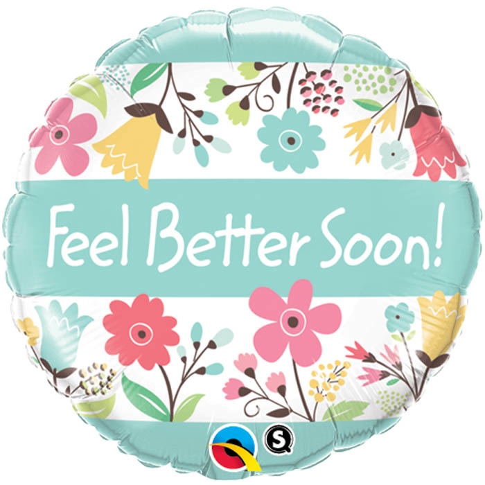 SMP Feel better soon floral Foil Balloon 45 cm