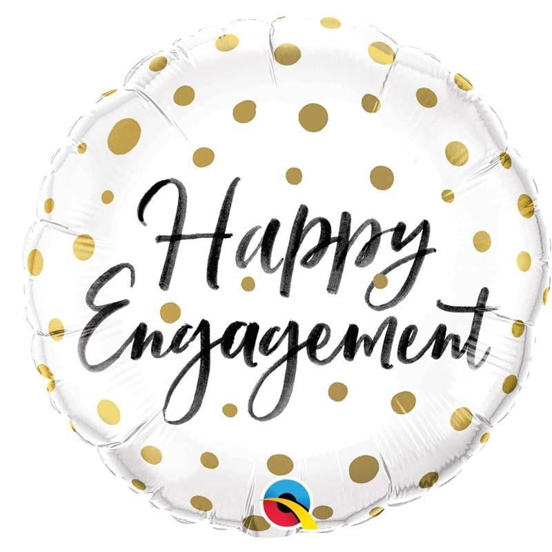 SMP Happy engagement Foil Balloon 45 cm