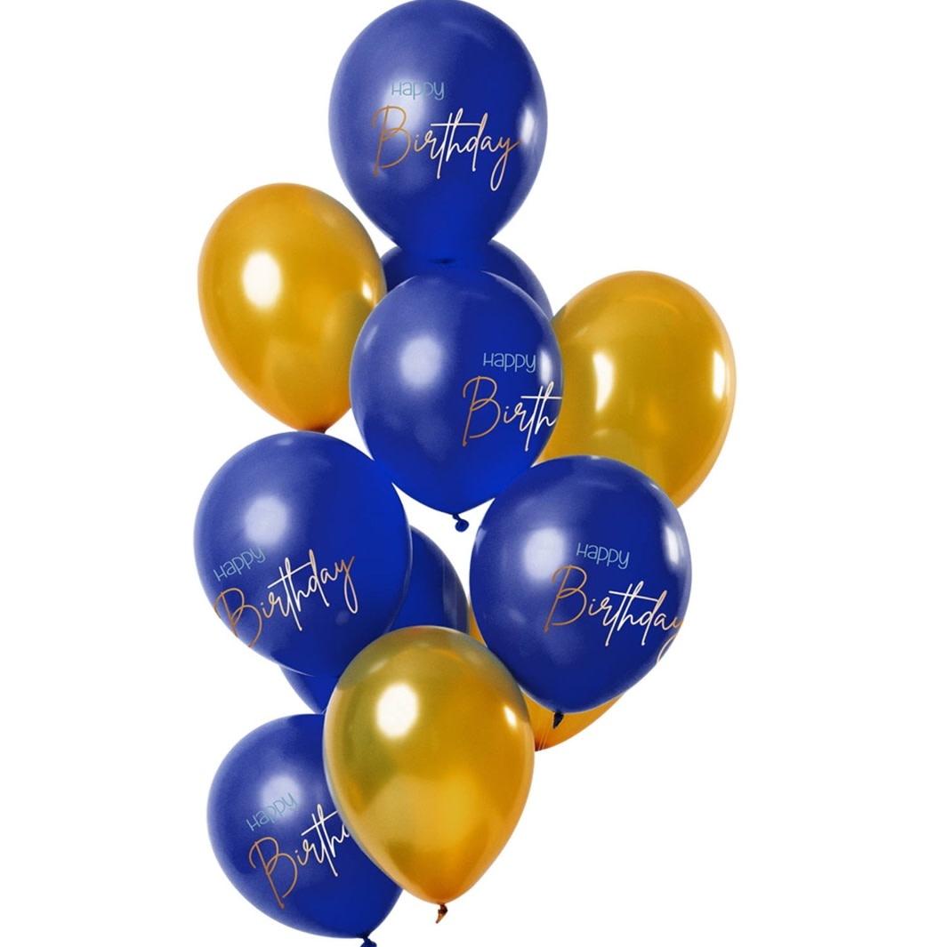 FT Mix balloons happy bday blue 30 cm 12 x