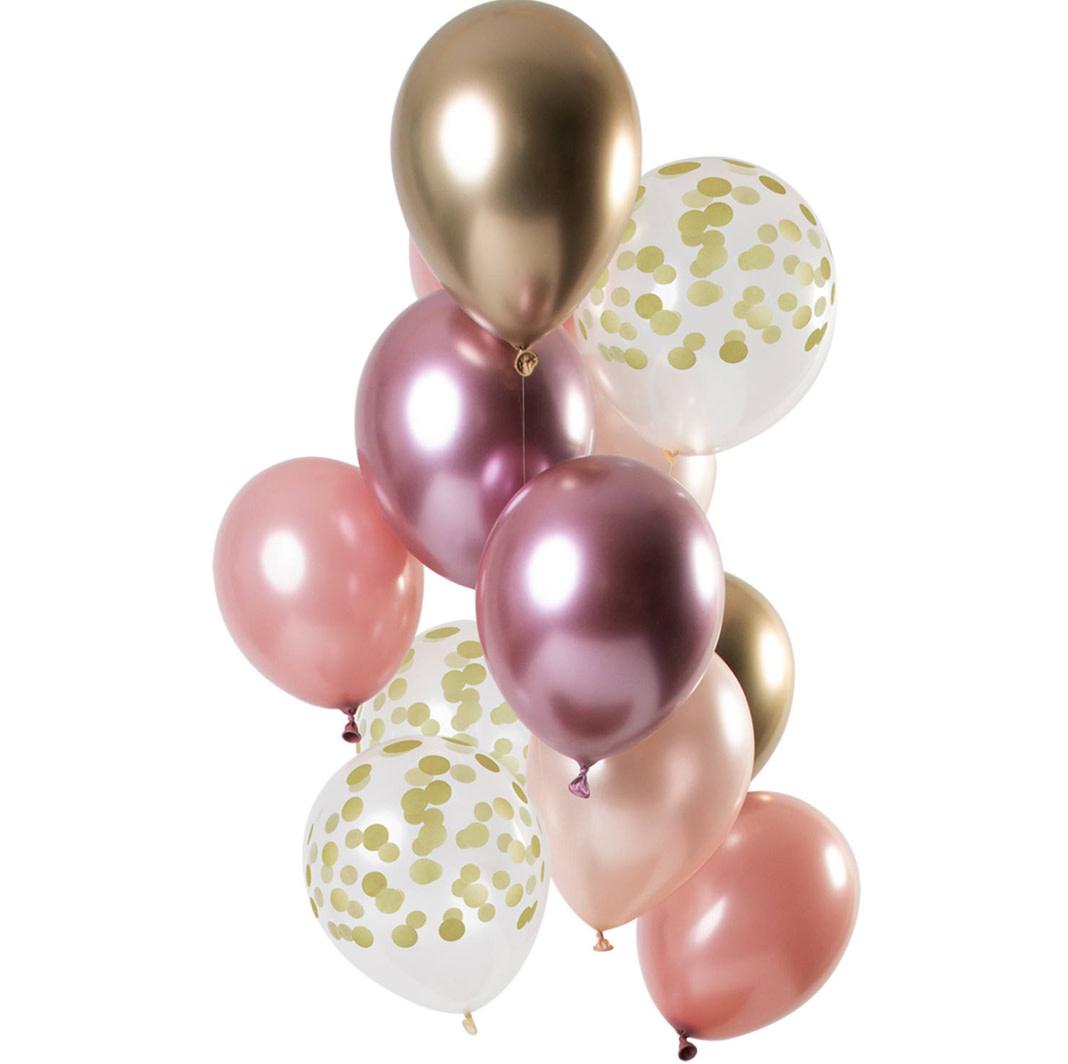 FT Mix balloons golden blush 30 cm 12 x