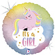 SMP pastel unicorn baby girl foil balloon 45 cm