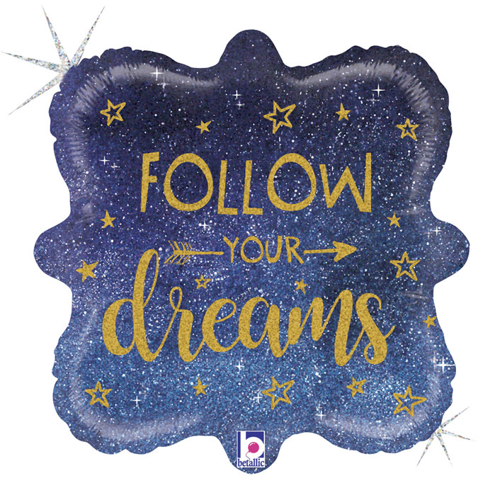 SMP follow your dreams foil balloon 45 cm