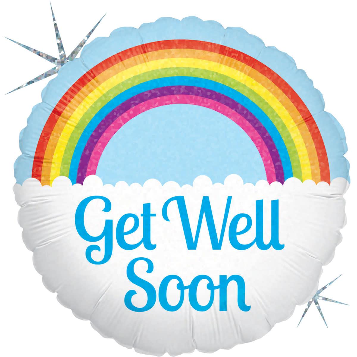 SMP get well soon rainbow foil balloon 45 cm