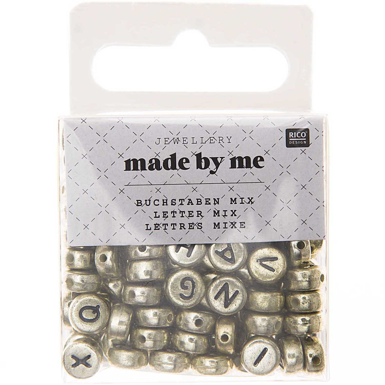 Rico NAY LETTERS MIX, ROUND, GOLD 165 PCS