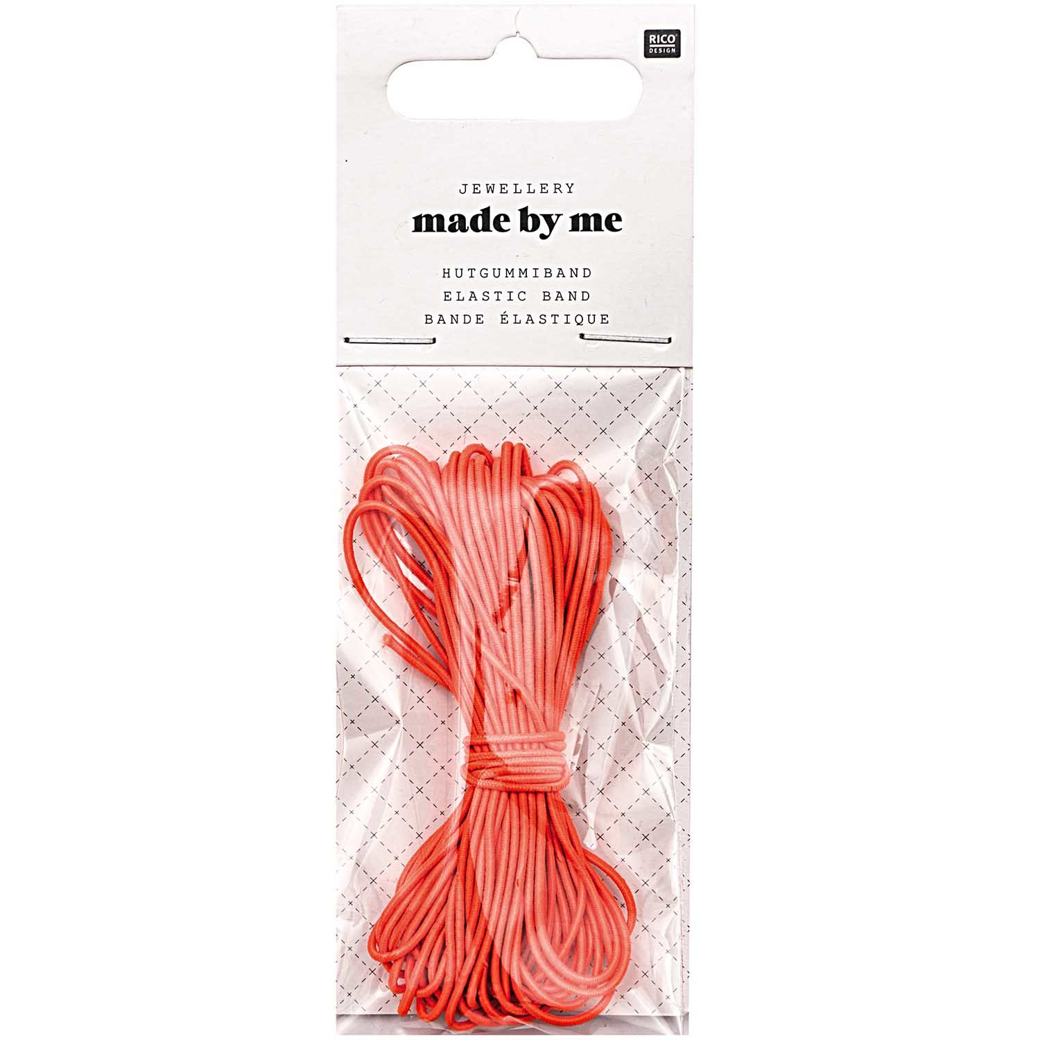 Rico NAY ELASTIC BAND, NEON RED 1MM X 5M