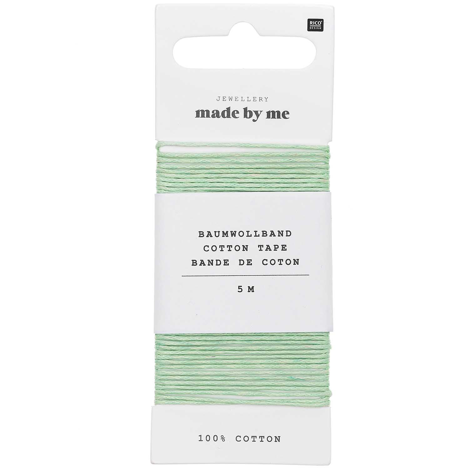 Rico NAY COTTON TAPE, MINT 1MM X 5M