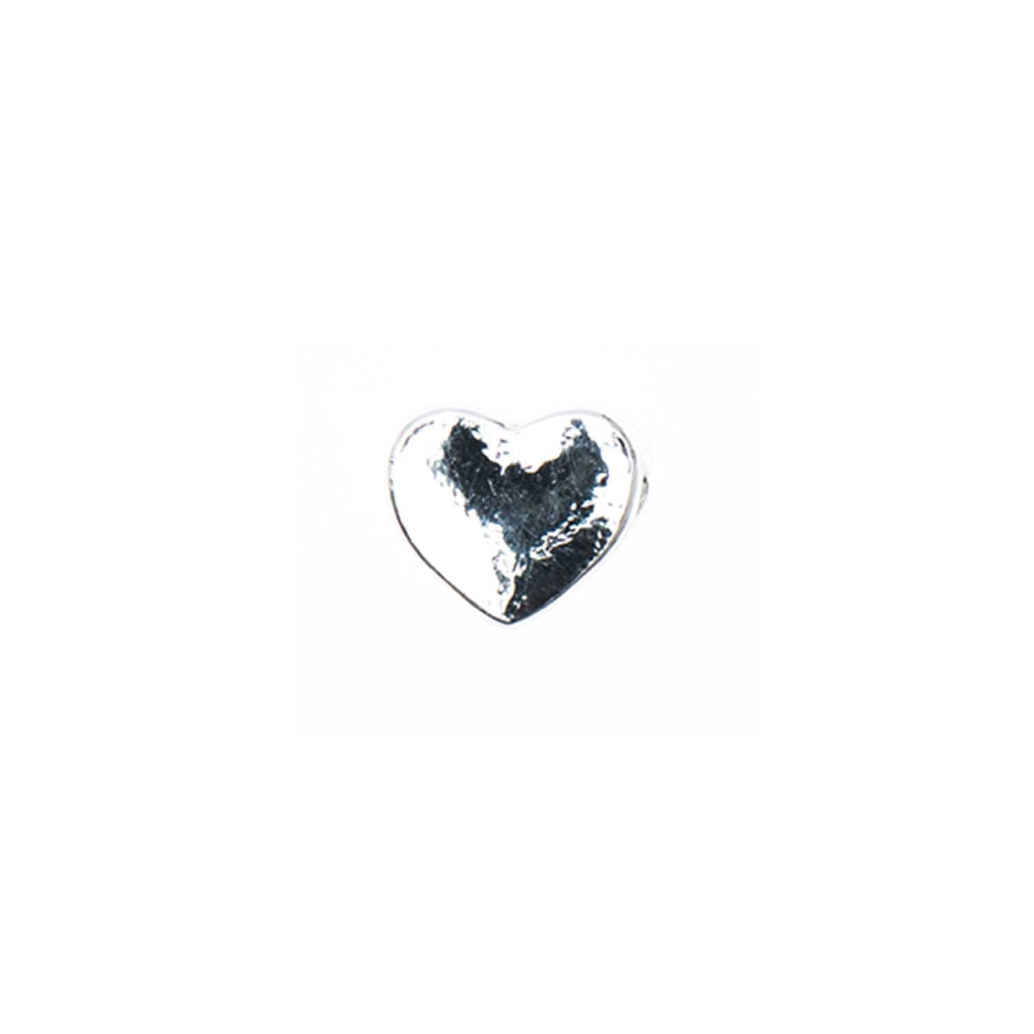 Rico NAY HEART, SILVER 5X5 MM