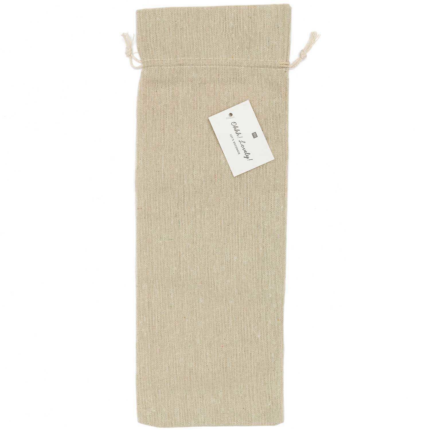 Rico NAY BAG JUTE LOOK NATURE, 13X39CM PER PIECE