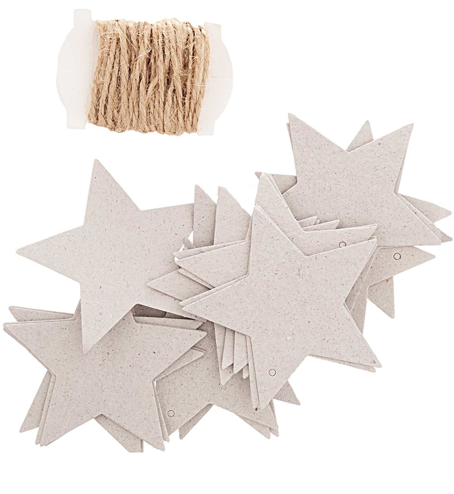 Rico NAY PAPER TAGS STAR GREY FSC MIX 24 PCS