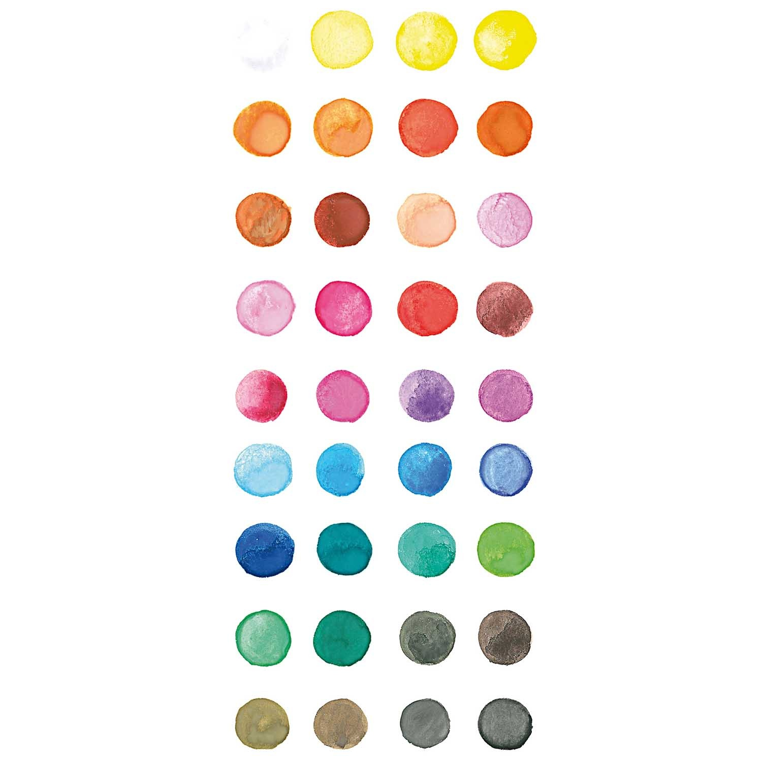 Rico NAY BASIC WATER COLOURS BIG 36 COLOURS, 120/255/141MM