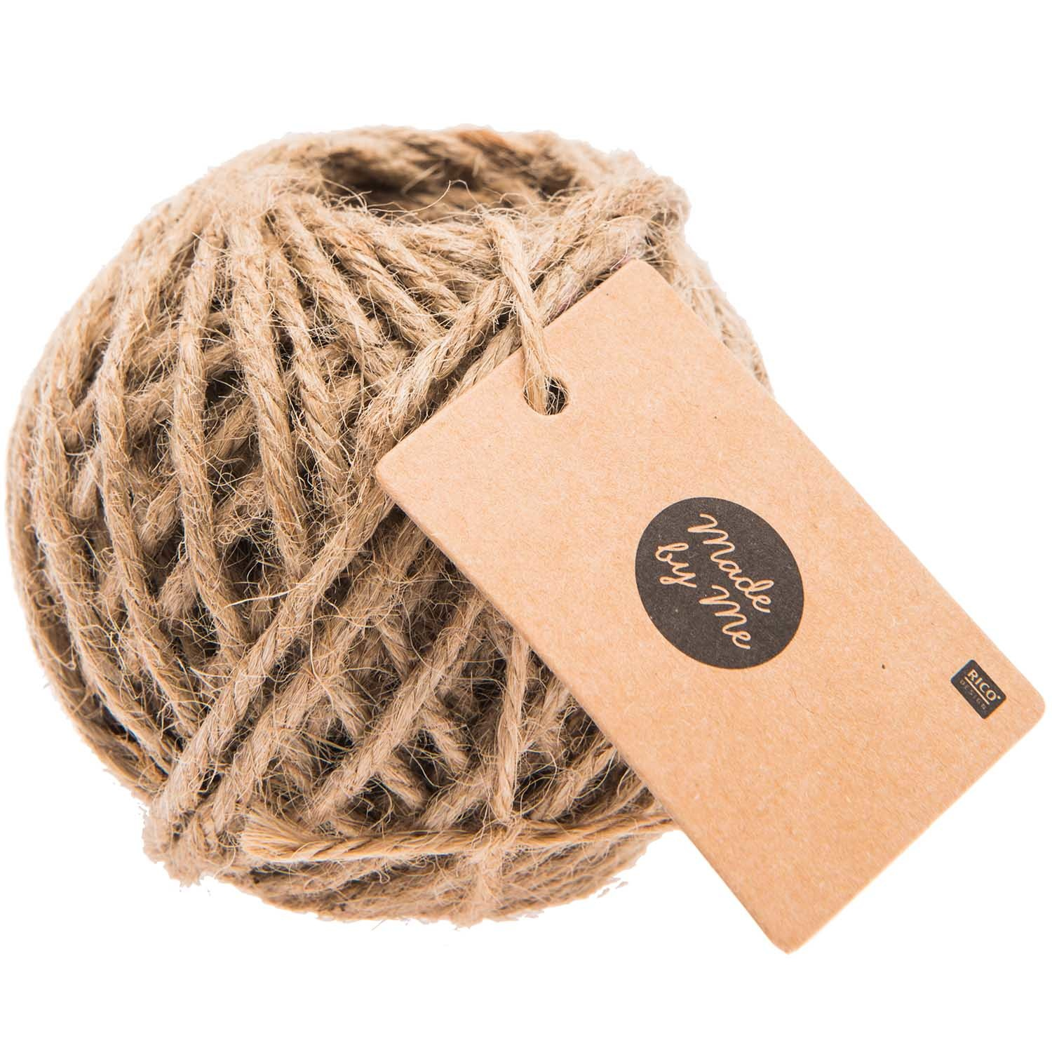 Rico NAY JUTE CORD NATURE 4MM 25M