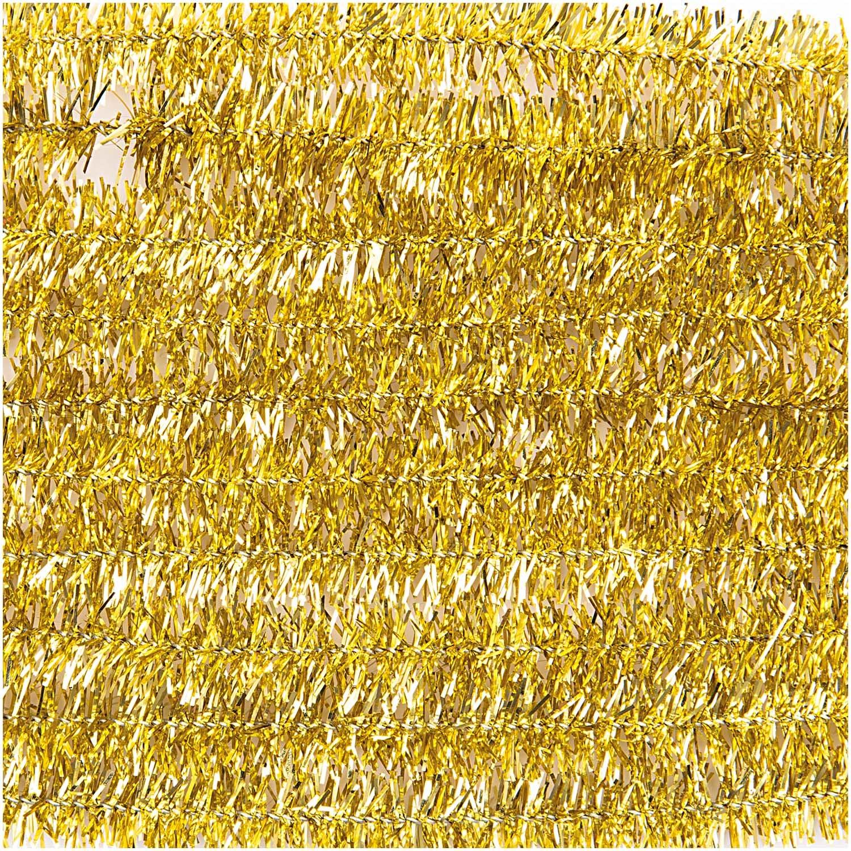 Rico NAY CHENILLE STICK GLITTER GOLD 10 X 50CM, DIA 9MM
