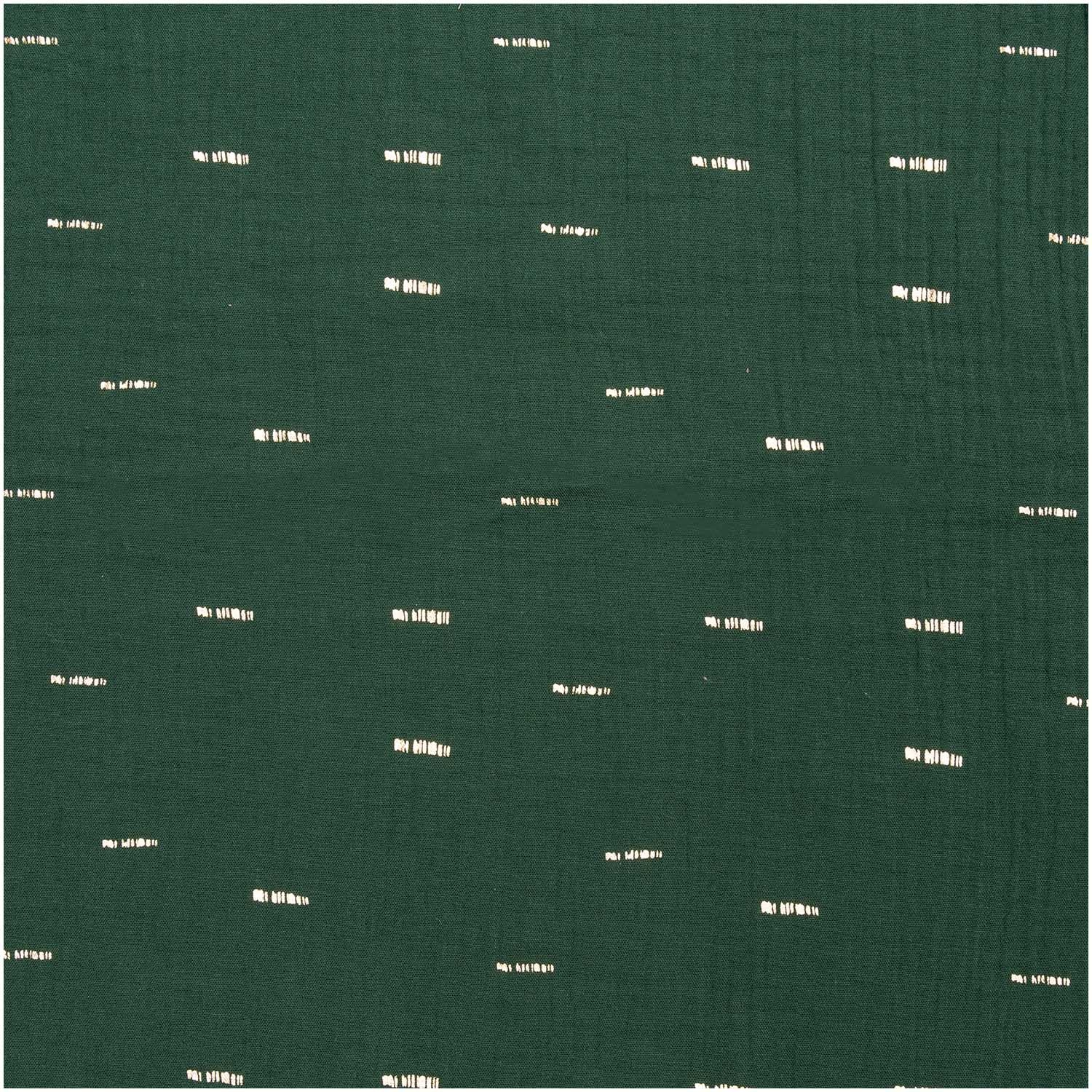 Rico NAY CRINKLE MUSLIN GREEN, HOT FOIL 50/130CM,100% COTTON,125G/M2