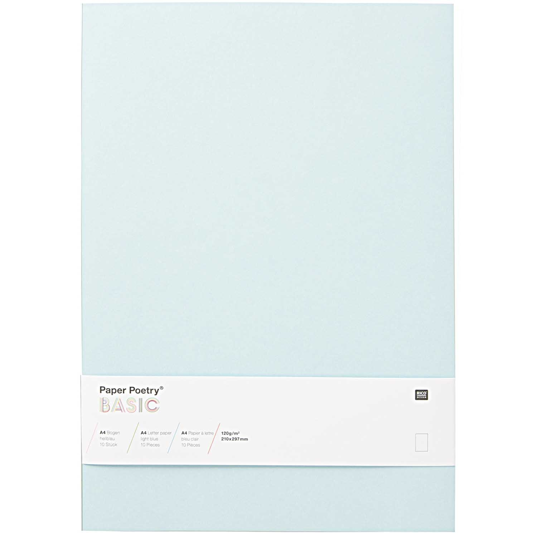 Rico NAY BASIC LETTER PAPER A4 LIGHT BLUE 10 PCS, 120g