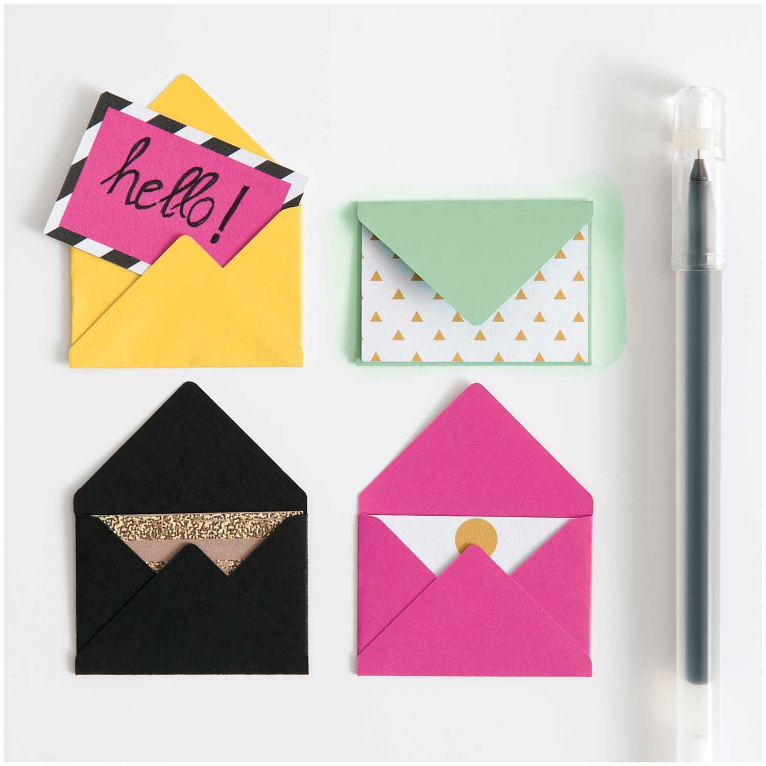Rico NAY MINI ENVELOPES, PINK 10 PCS, 3 X 4,5 CM