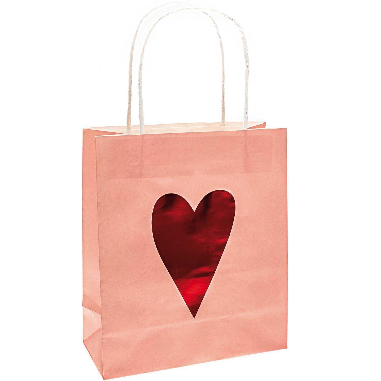 Rico NAY PAPER BAGS, HEARTS, PINK FSC MIX 2 PCS