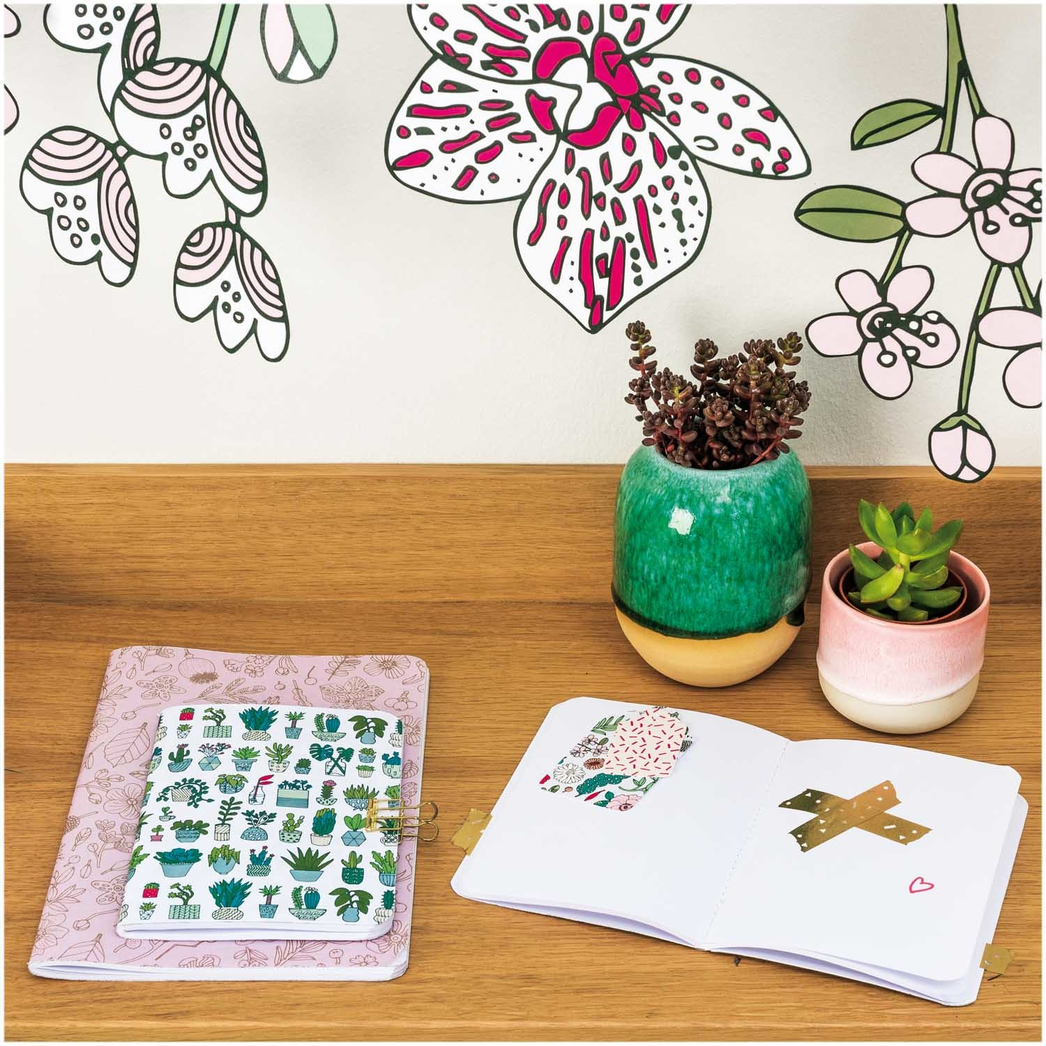 Rico NAY NOTEBOOKS A5, FLOWERS FSC MIX 2 STK, 40 PAGES