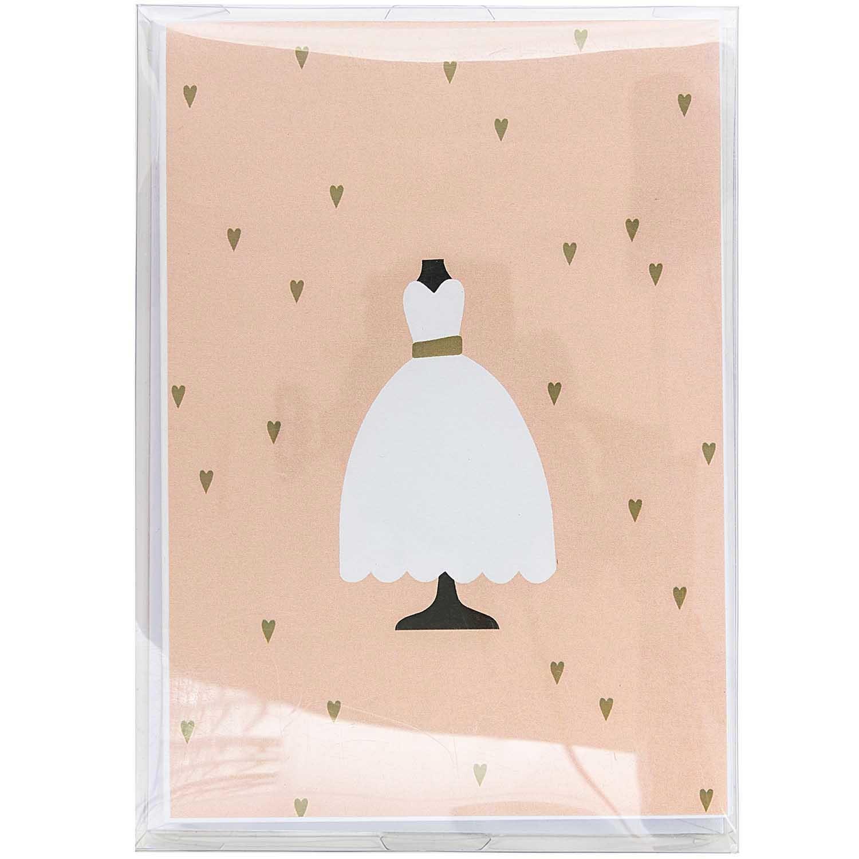 Rico NAY CARD SET, WEDDING DRESS FSC MIX 10 CARDS / 10 ENVELOPES