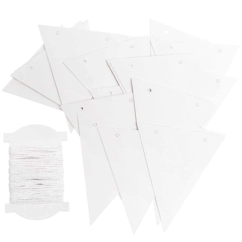 Rico NAY PAPER PENNANTS, WHITE FSC MIX 24 PCS