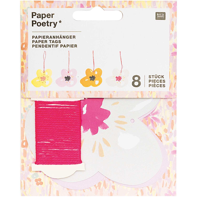 Rico NAY PAPER TAG, CRAFT, FLOWER FSC MIX 8 PCS