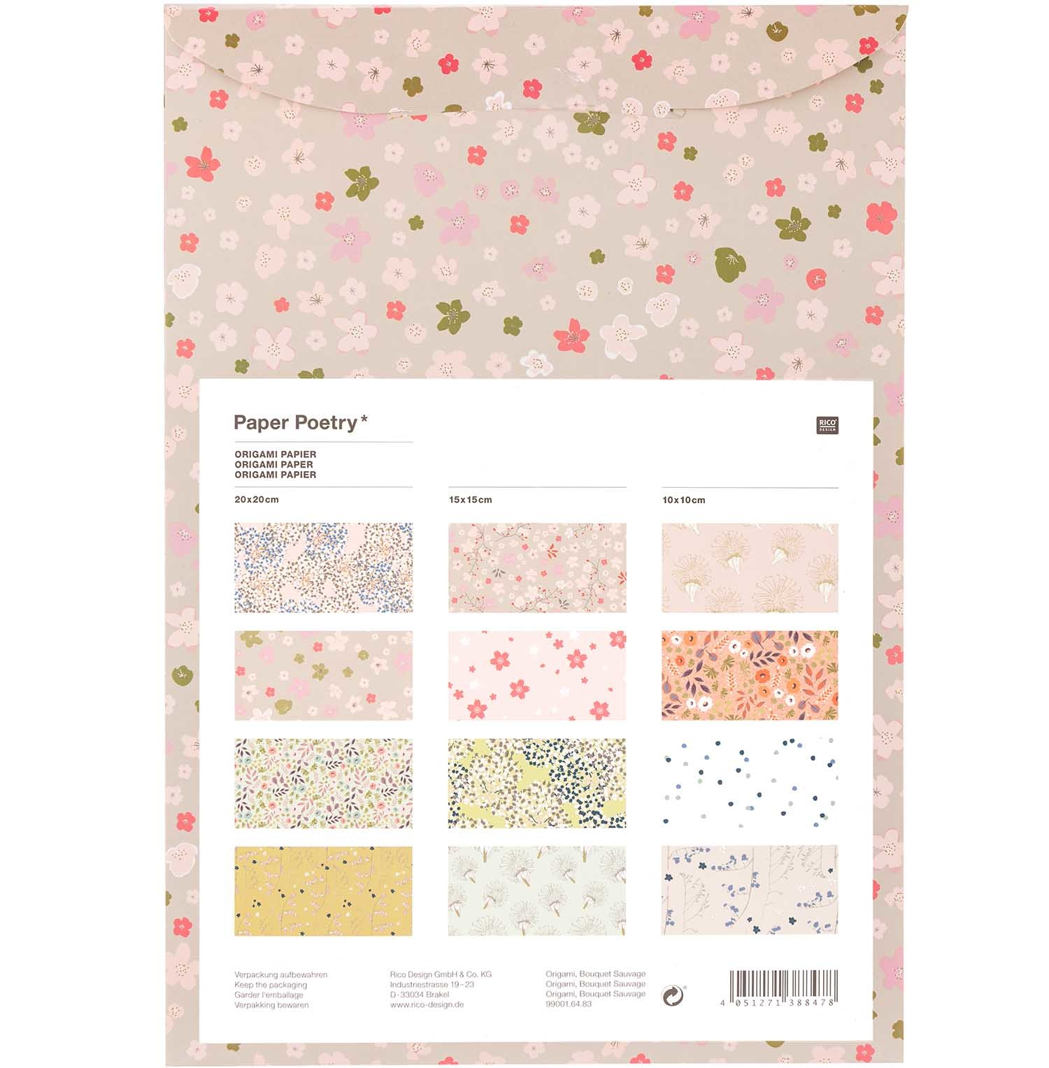 Rico NAY ORIGAMI, BOUQUET SAUVAGE 60 SHEETS