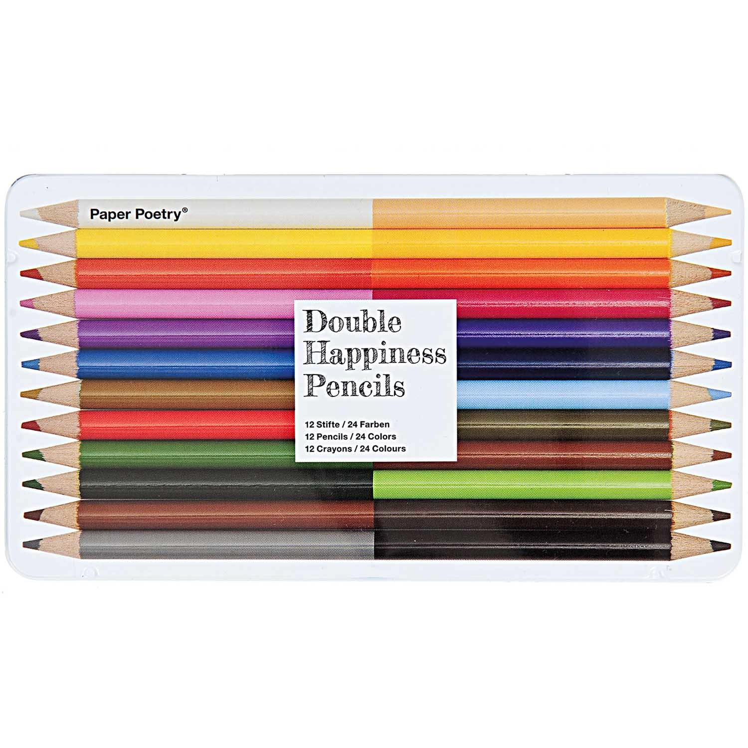 Rico NAY 2IN1 COLORED PENCILS 12 PCS, 18.5/10/1 CM