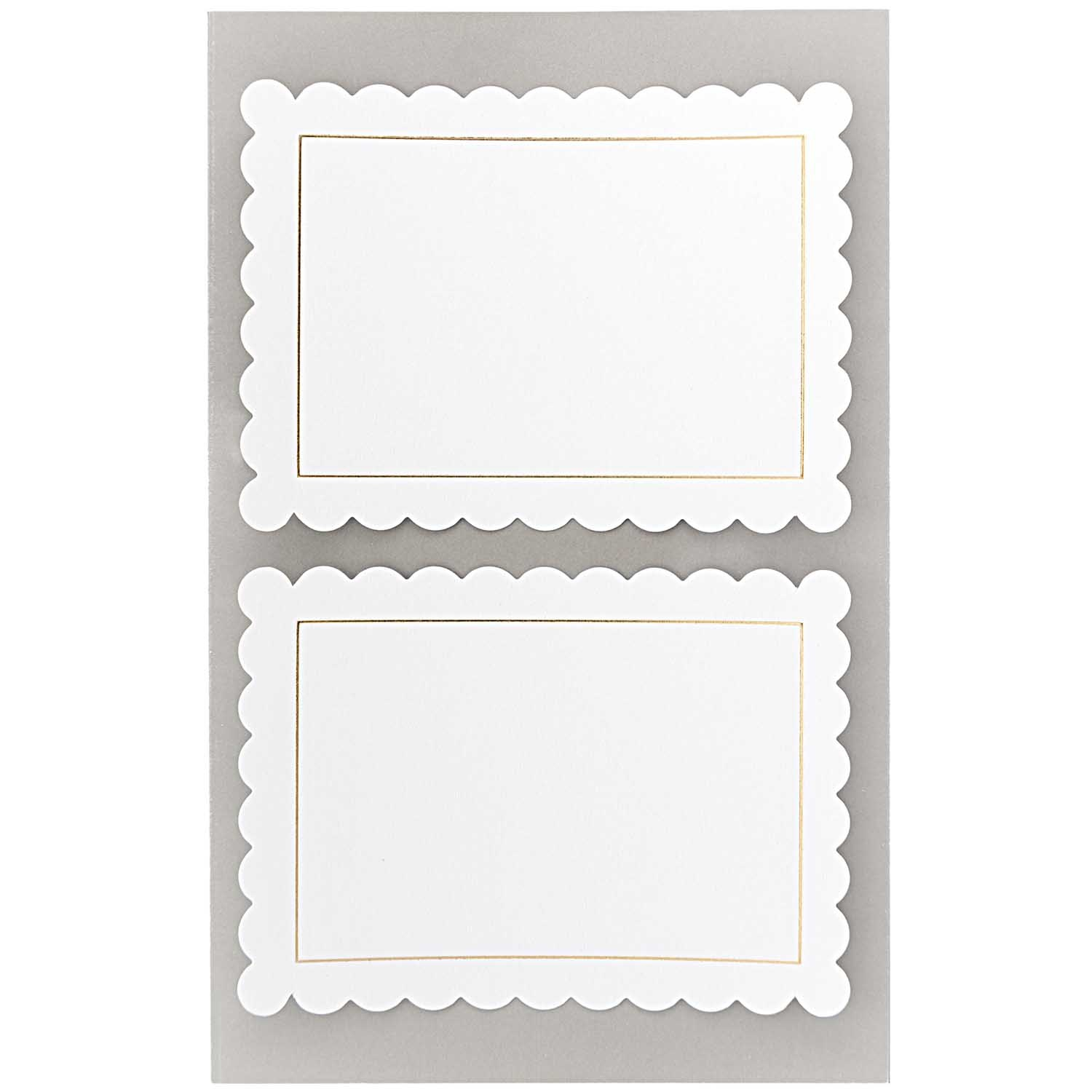 Rico NAY OFFICE STICKER, WHITE LABELS ROSETTE 4 SHEETS, 9,5 X 19 CM
