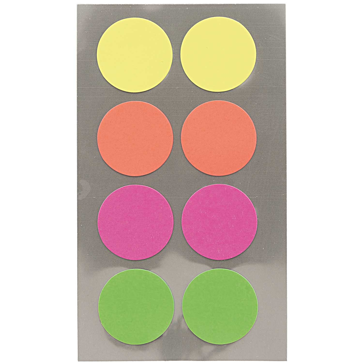 Rico NAY OFFICE STICK, NEON DOTS 25MM 4 SHEETS, 7 X 15,5 CM