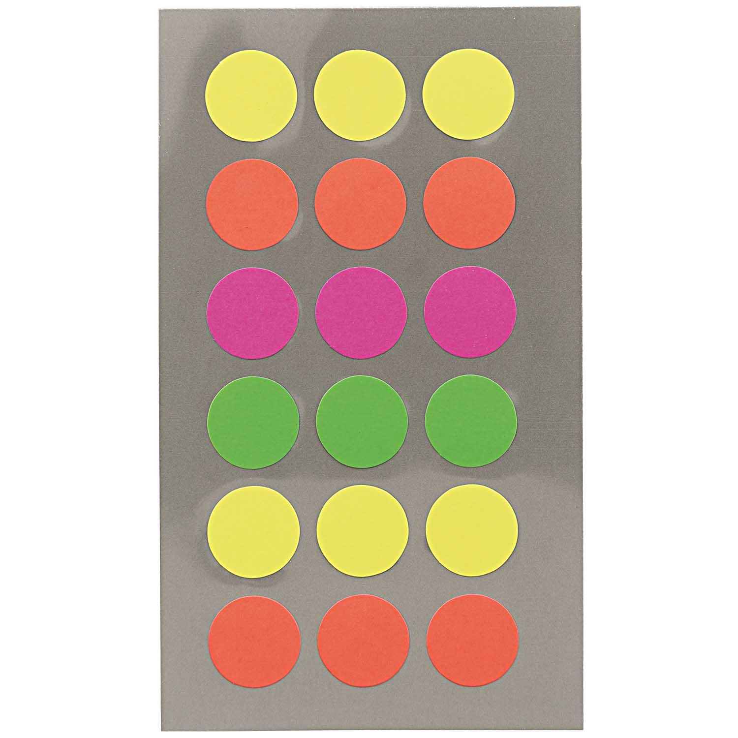 Rico NAY OFFICE STICKER, NEON DOTS 15MM