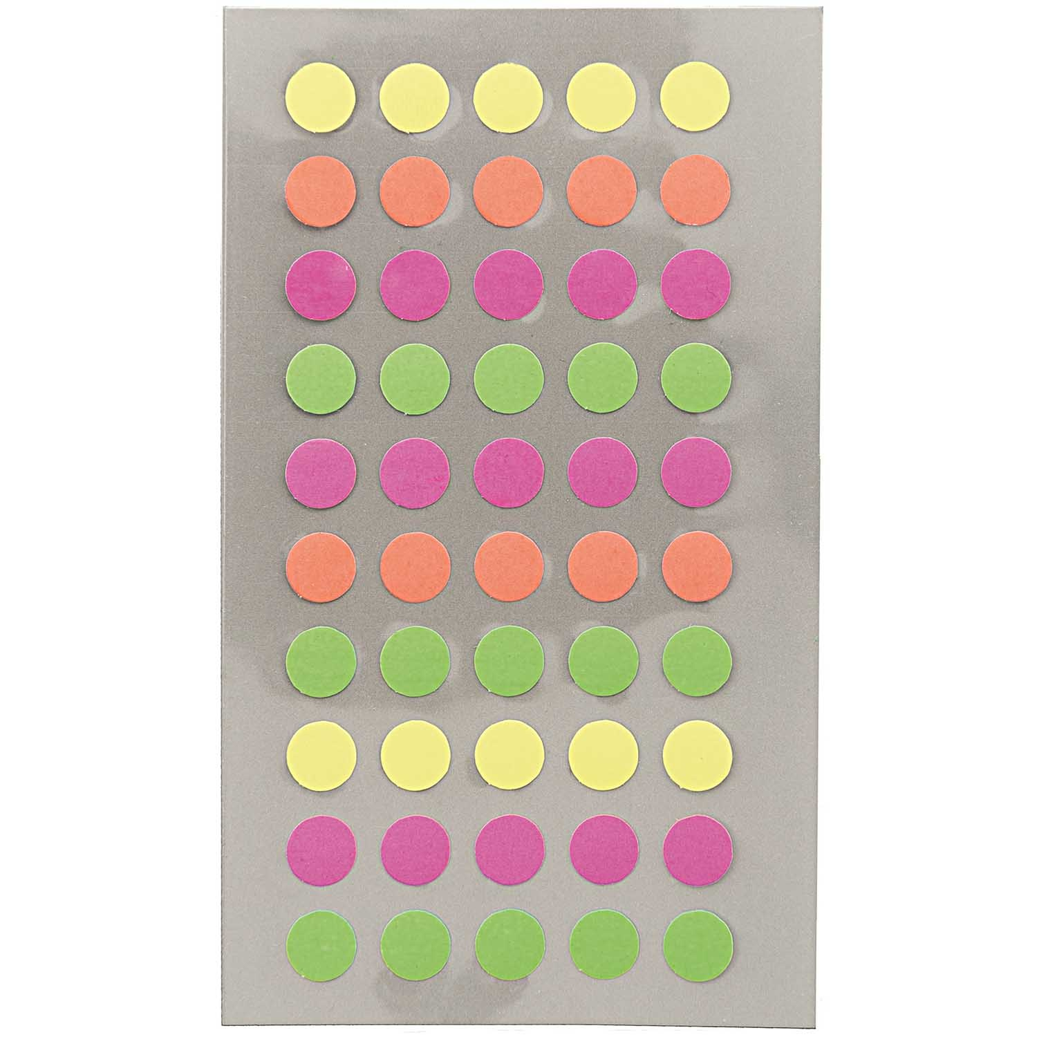 Rico NAY OFFICE STICKER, NEON DOTS 8MM 4 SHEETS, 7 X 15,5 CM