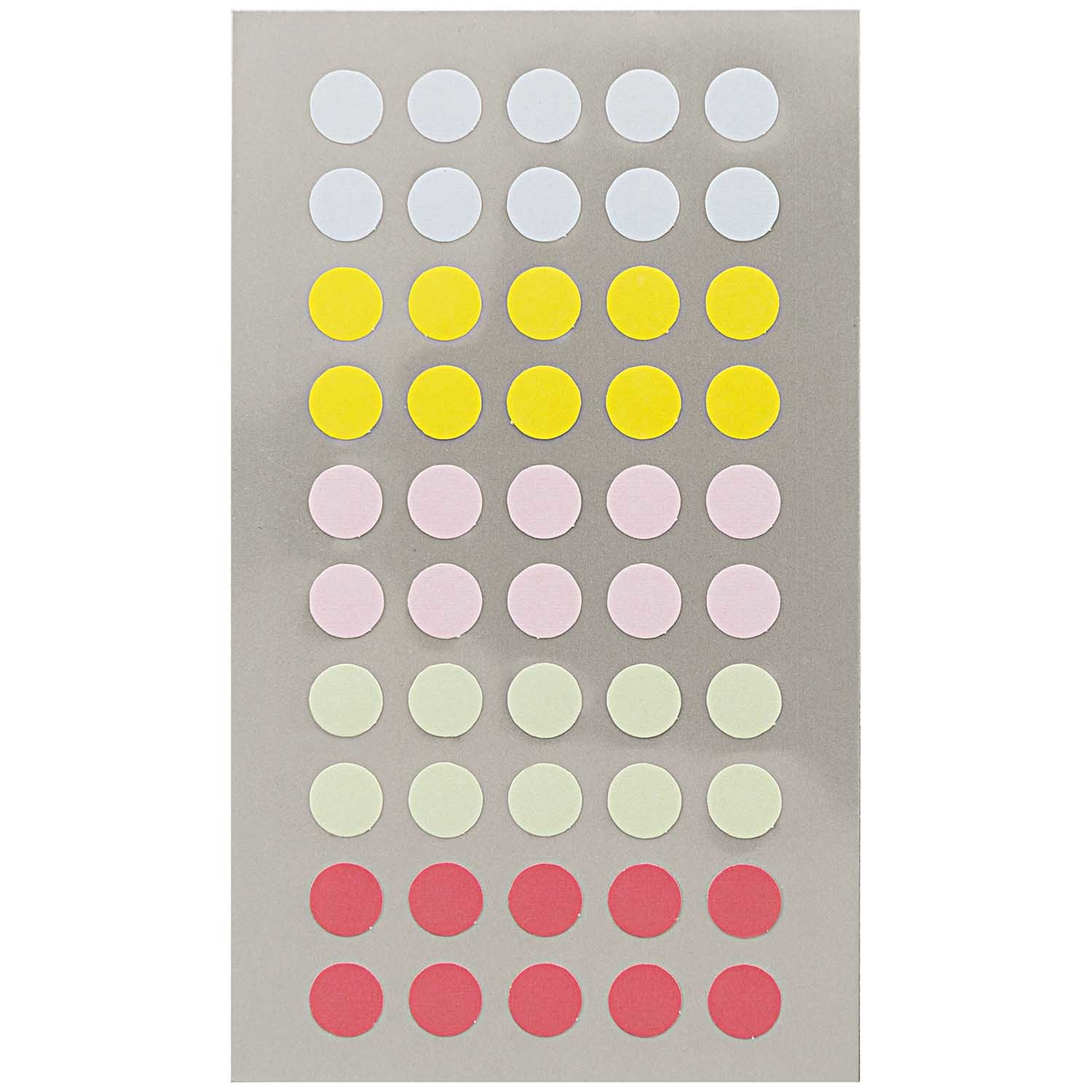 Rico NAY OFFICE STICK, PASTEL DOTS 8MM 4 SHEETS, 7 X 15,5 CM