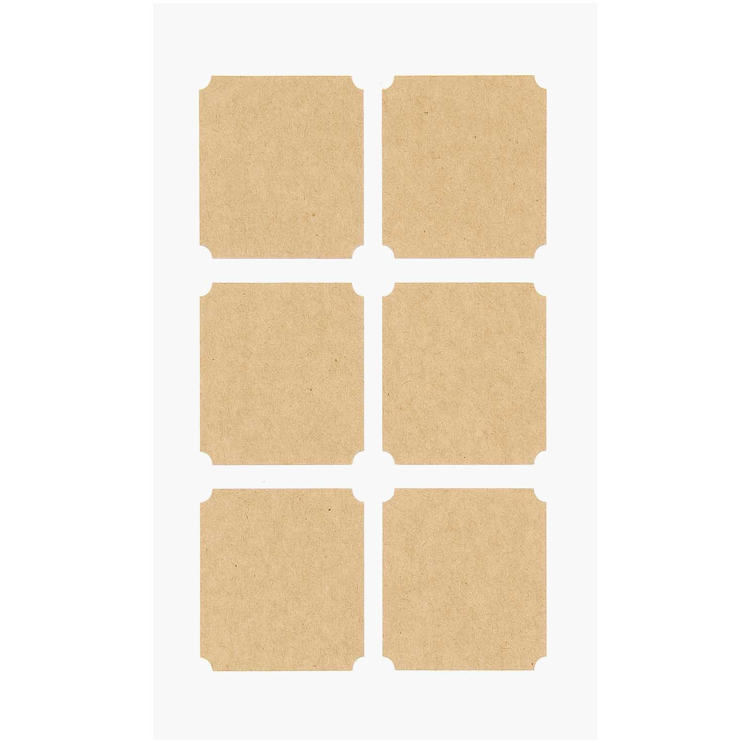 Rico NAY CRAFT PAPER STICKERS, SQUARE TAGS 15 X 10 CM, 24 PCS